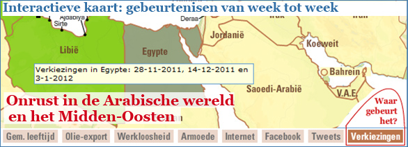 Interactieve graphic: Onrust in de Arabische wereld