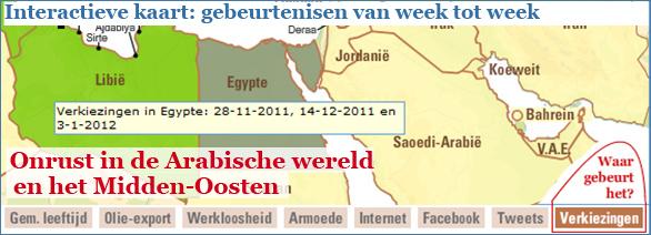 Interactieve graphic: Onrust in de Arabische wereld